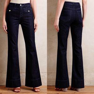 {Anthro} Pilcro Superscript Flare Jeans